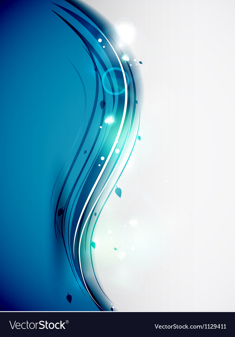 Vertical blue wave template vector | Price: 1 Credit (USD $1)