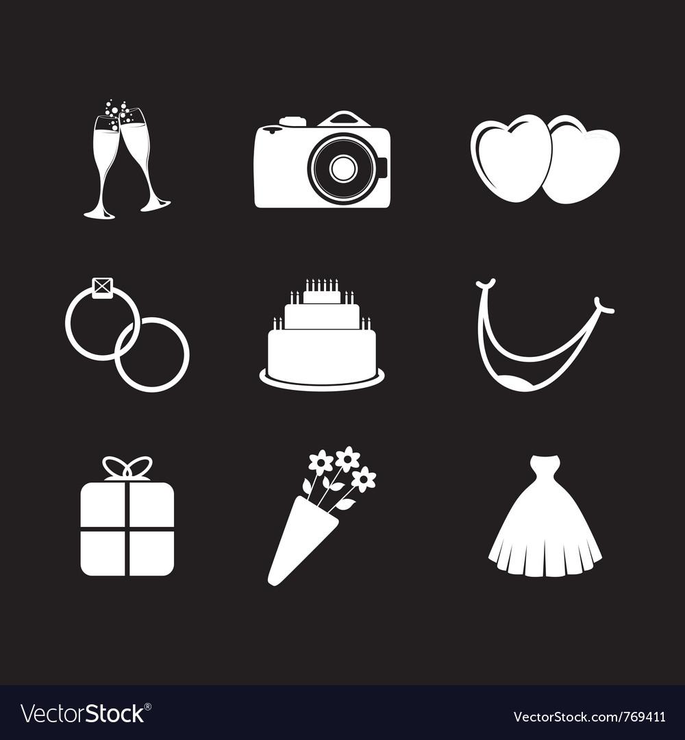 Wedding icons vector   Price: 1 Credit (USD $1)