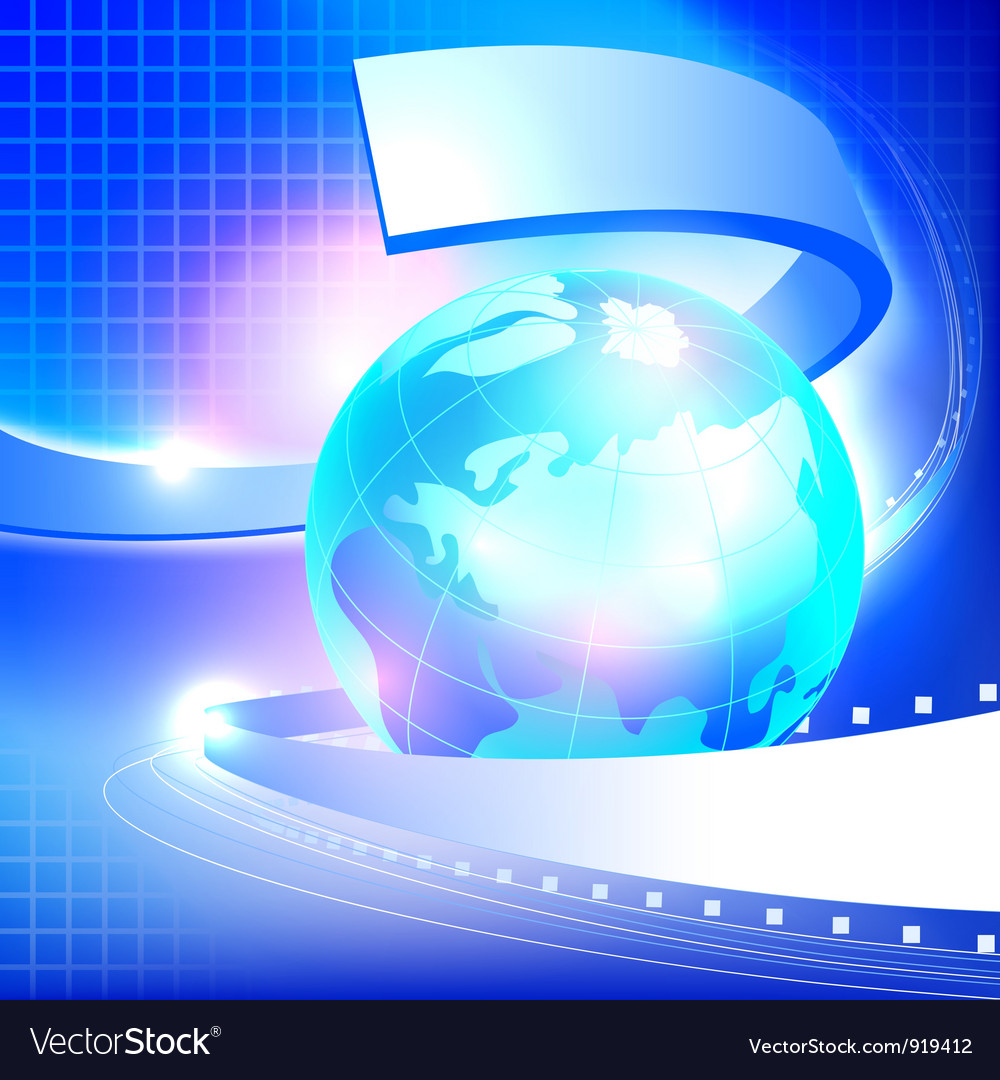 Abstract blue earth background vector | Price: 1 Credit (USD $1)