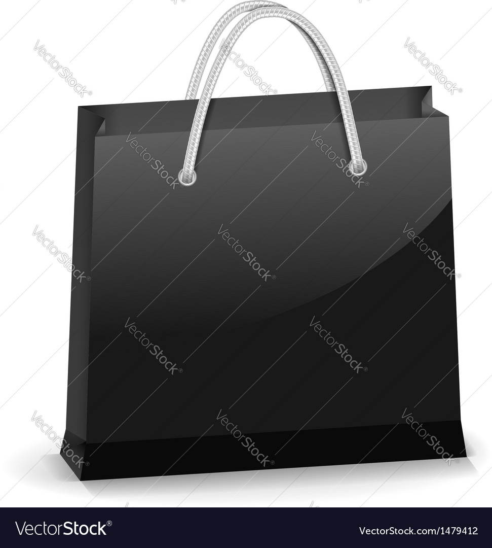 Black shopping bag vector | Price: 1 Credit (USD $1)