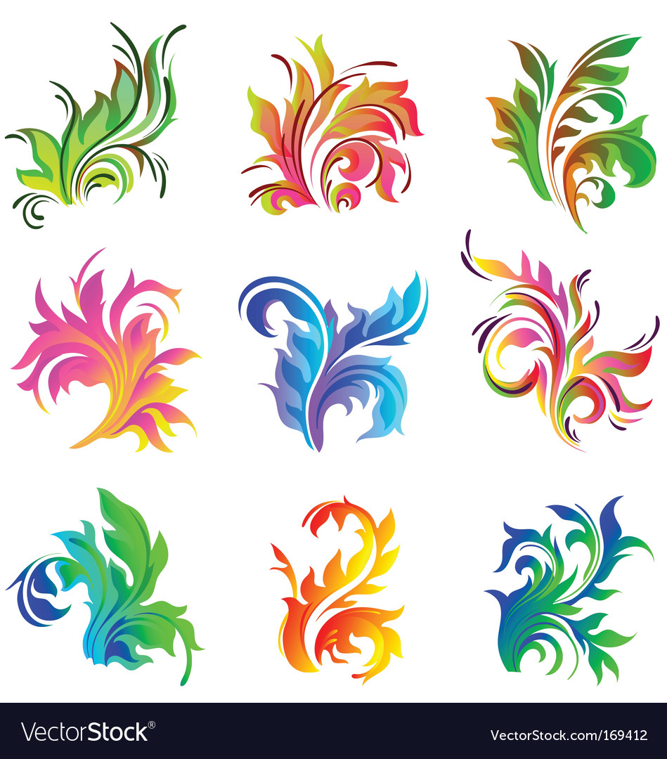 Floral decor ornament vector | Price: 1 Credit (USD $1)