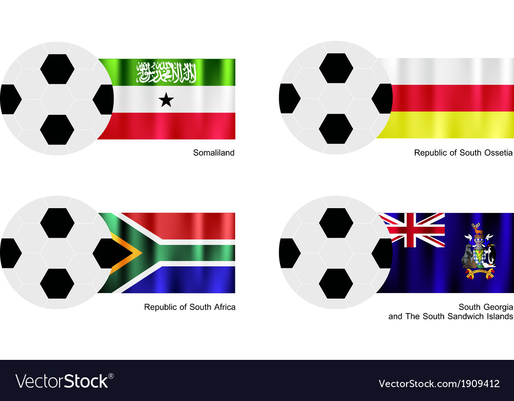 Football with somaliland south ossetia flag vector | Price: 1 Credit (USD $1)