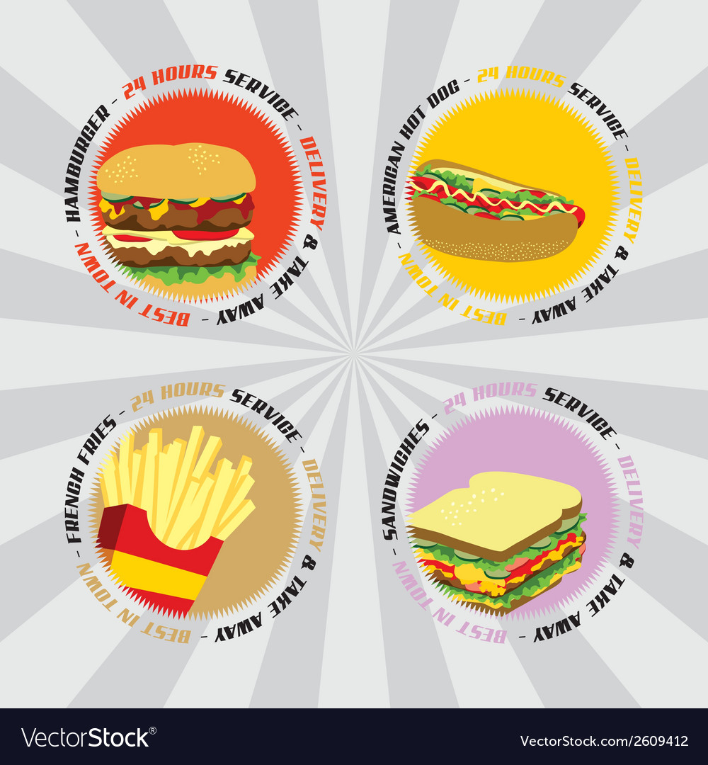 Junk food vector | Price: 1 Credit (USD $1)
