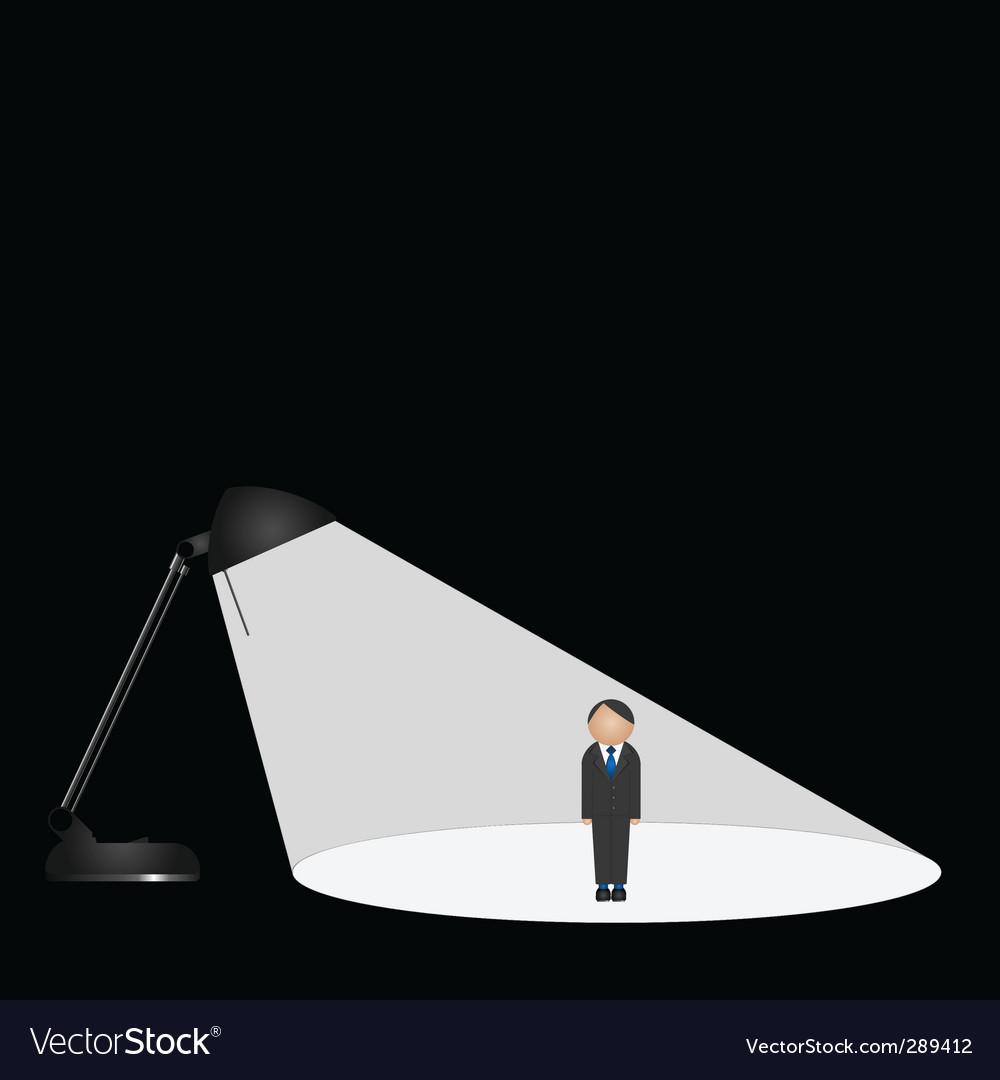 Lamp man vector | Price: 1 Credit (USD $1)