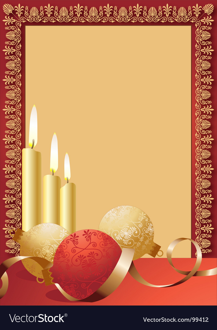 Scroll candles border vector | Price: 1 Credit (USD $1)