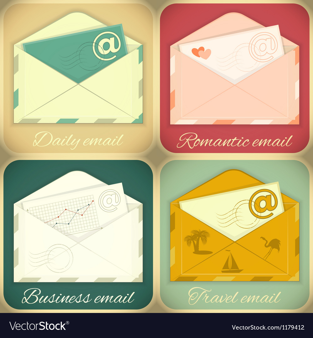 Set of email concept vector | Price: 3 Credit (USD $3)