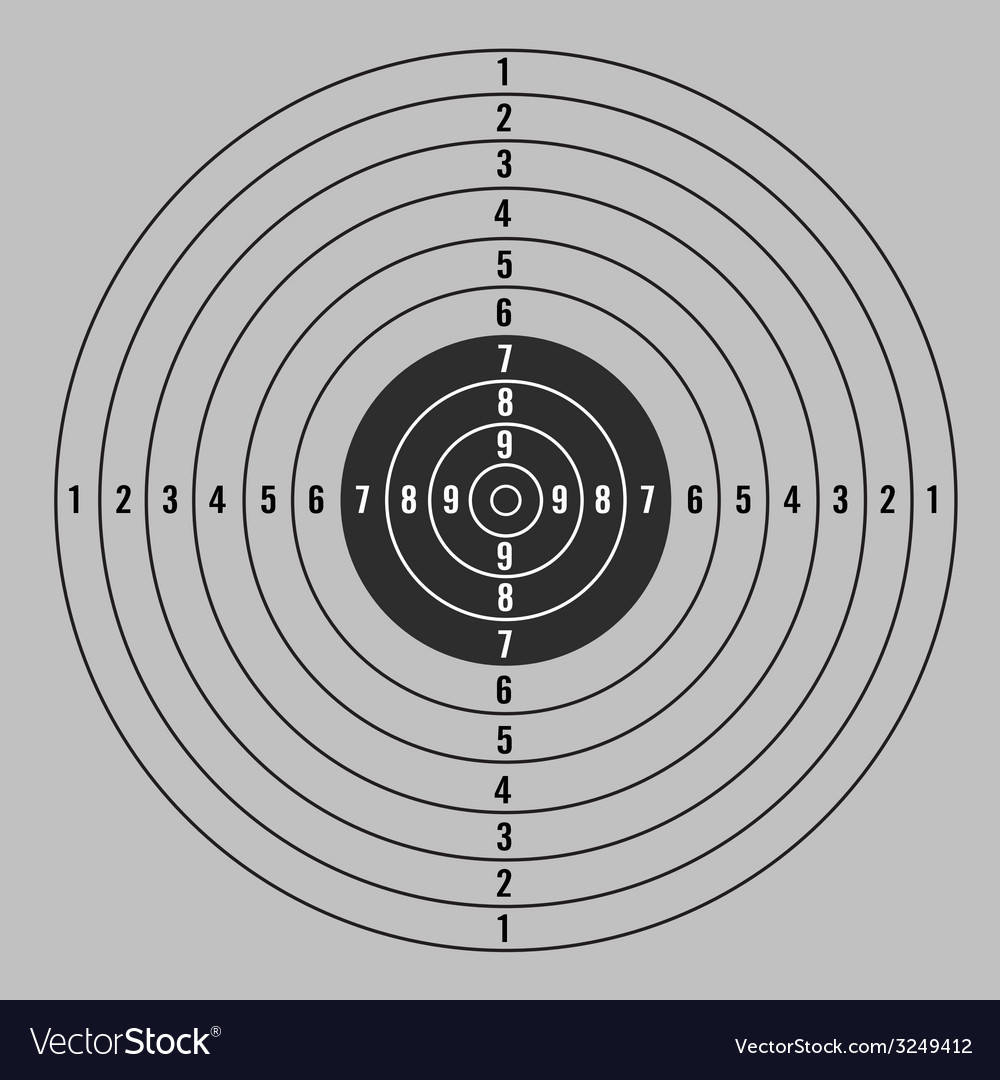 Target with gray background vector | Price: 1 Credit (USD $1)