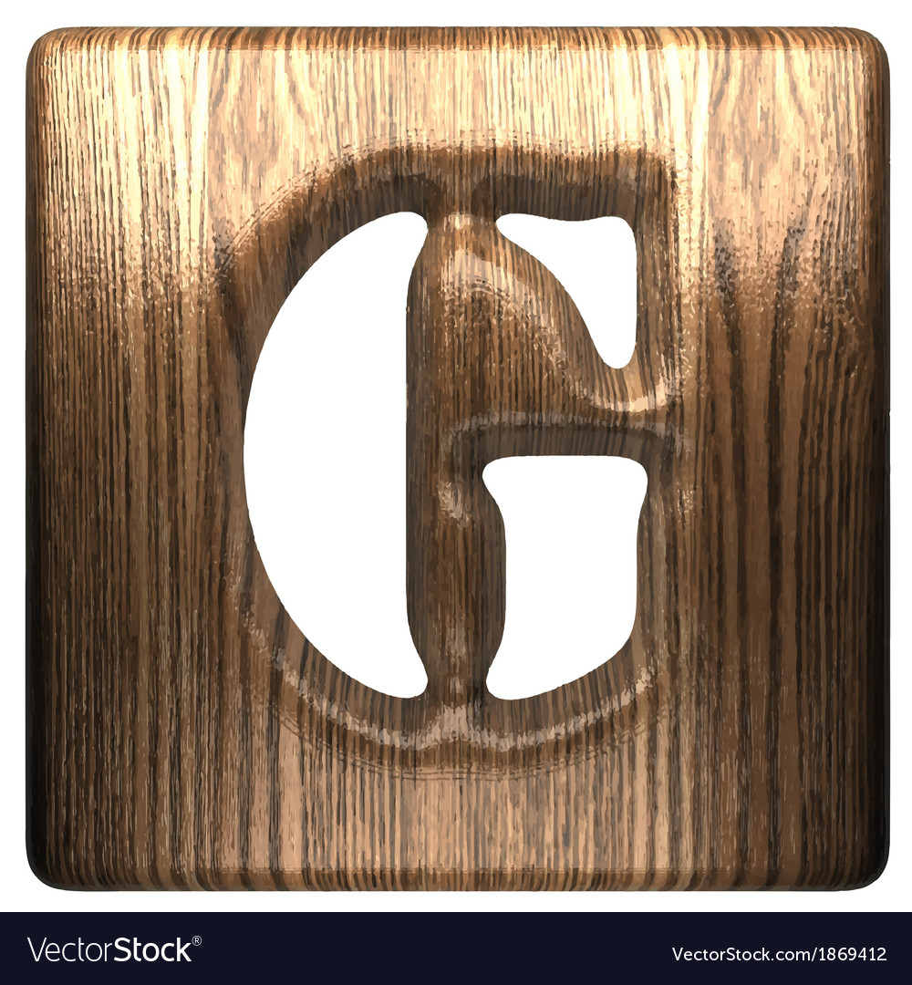Wooden figure g vector | Price: 1 Credit (USD $1)
