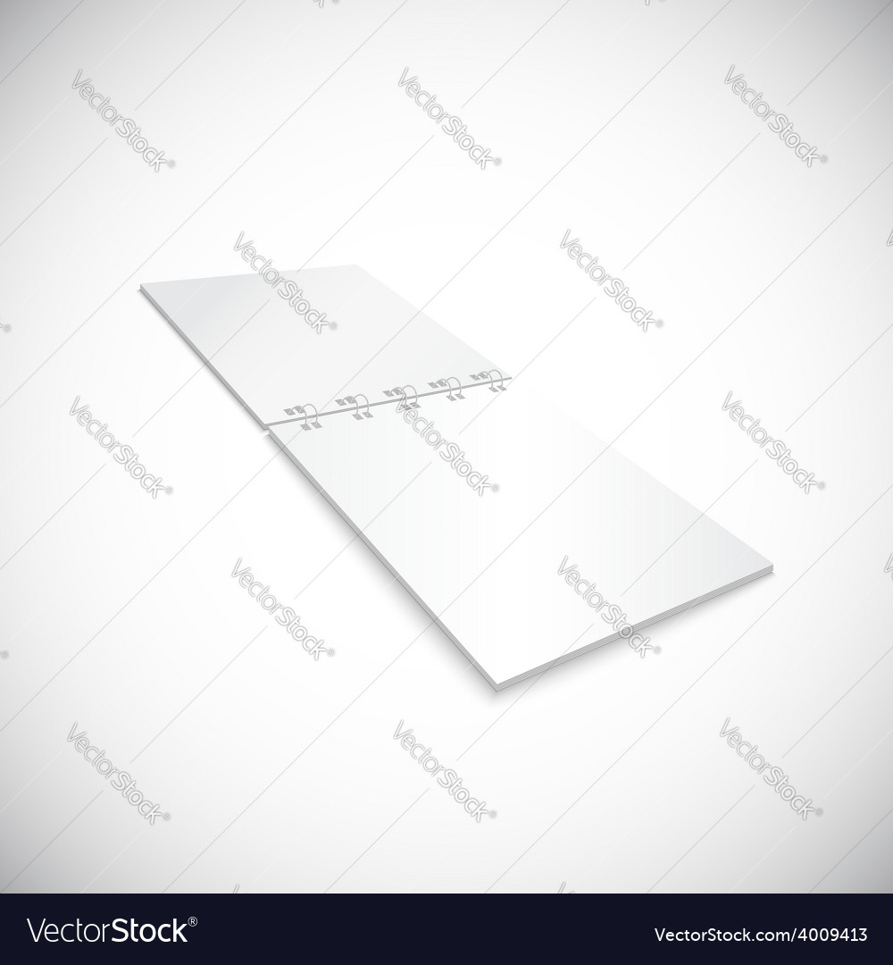 Blank spiral notebook lying isolated on white vector | Price: 1 Credit (USD $1)