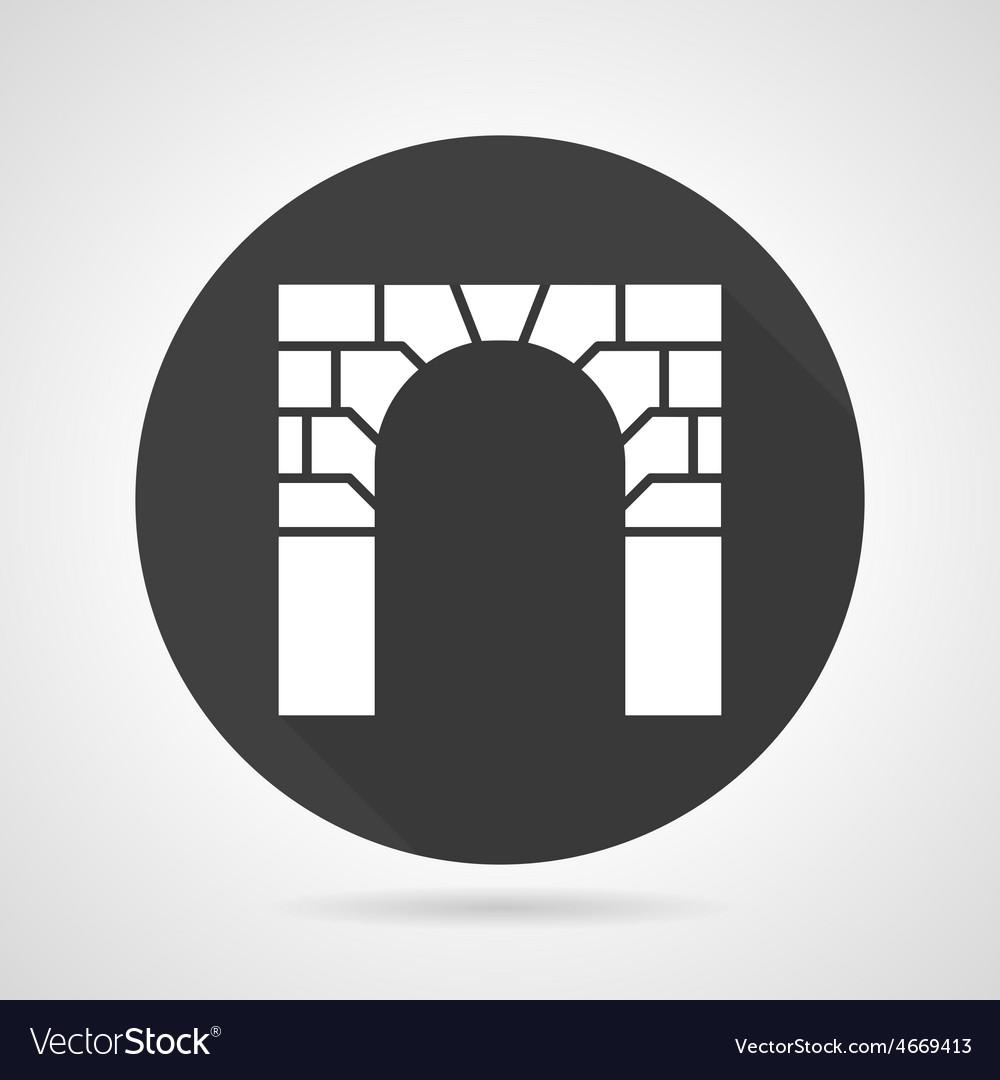 Brick archway black round icon vector | Price: 1 Credit (USD $1)