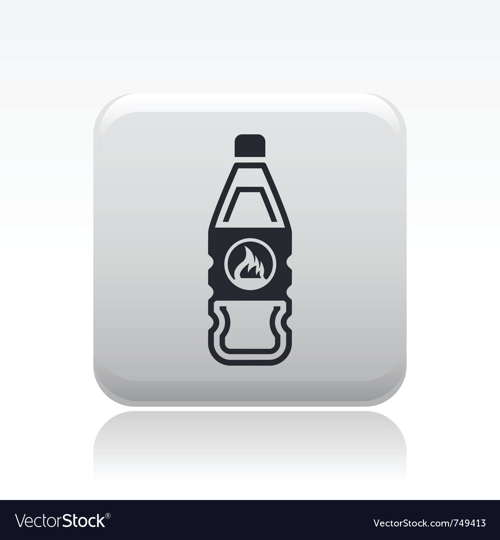 Flammable bottle icon vector | Price: 1 Credit (USD $1)