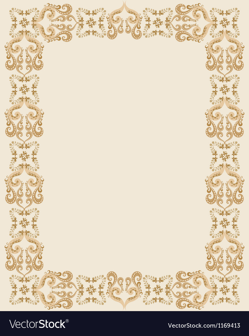 Gothic rectangular frame vector | Price: 1 Credit (USD $1)