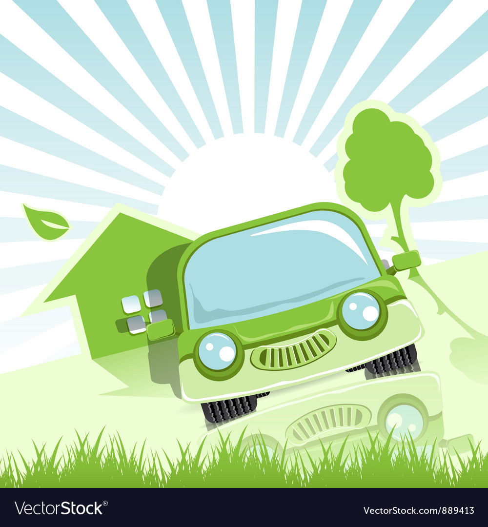 Green car vector | Price: 3 Credit (USD $3)