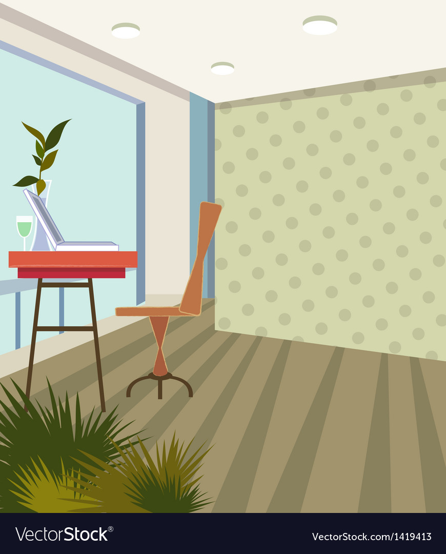 Home office background vector | Price: 1 Credit (USD $1)