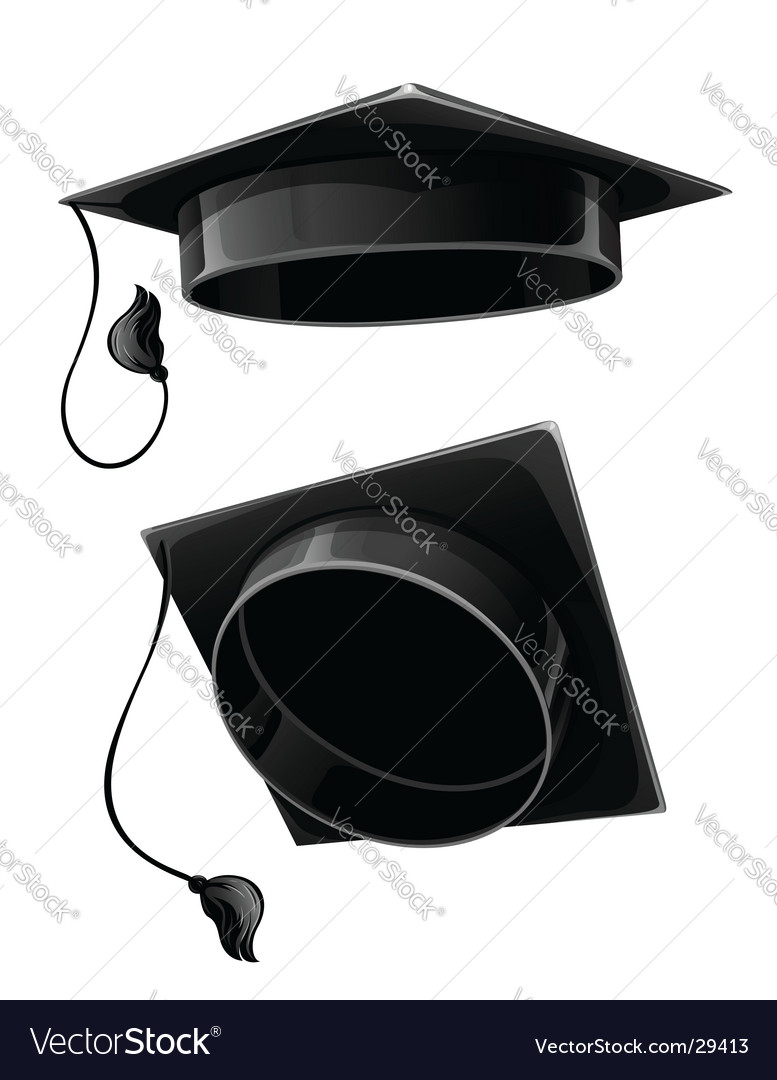 Isolated cap of university student vector | Price: 1 Credit (USD $1)