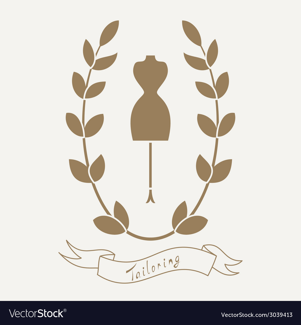 Tailoring emblem with mannequin or dummy vector | Price: 1 Credit (USD $1)