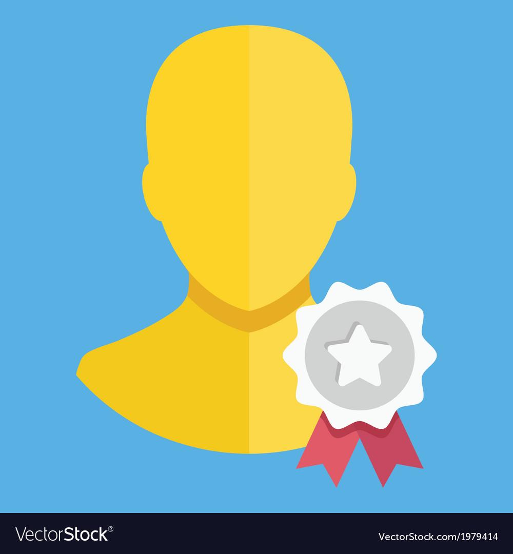 Account award icon vector | Price: 1 Credit (USD $1)