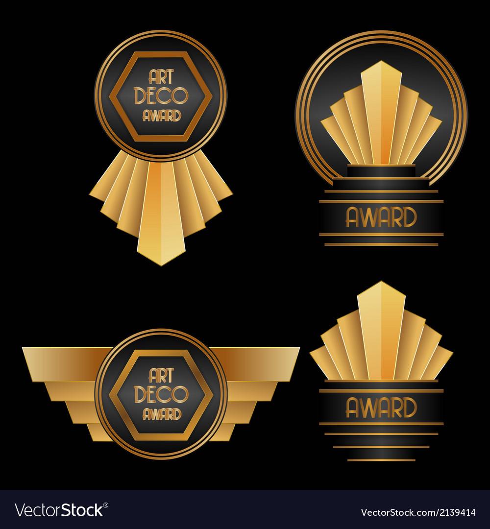 Art deco awards vector | Price: 1 Credit (USD $1)