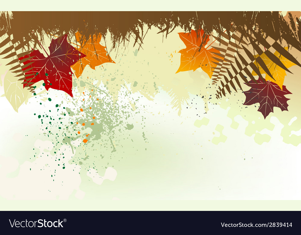 Autumn background with a space for a text vector