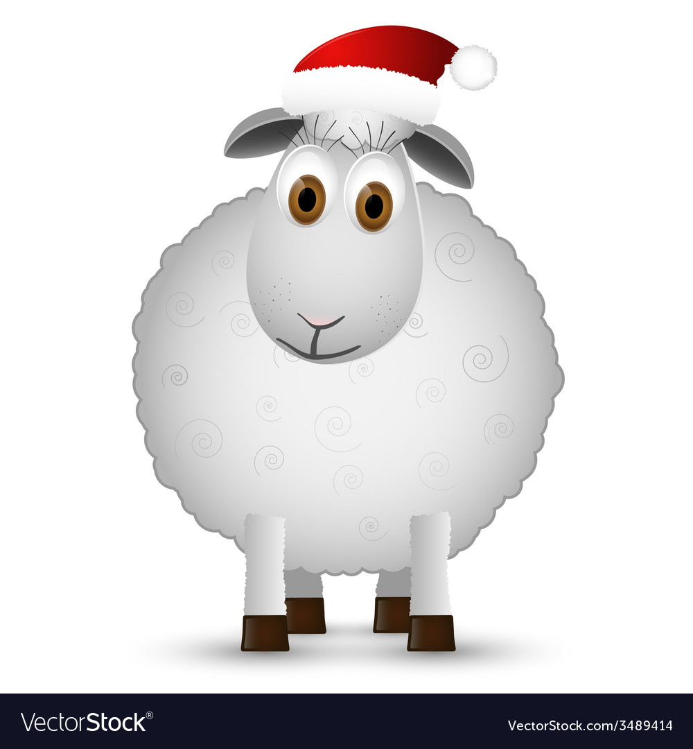 Background with santa sheep vector | Price: 1 Credit (USD $1)