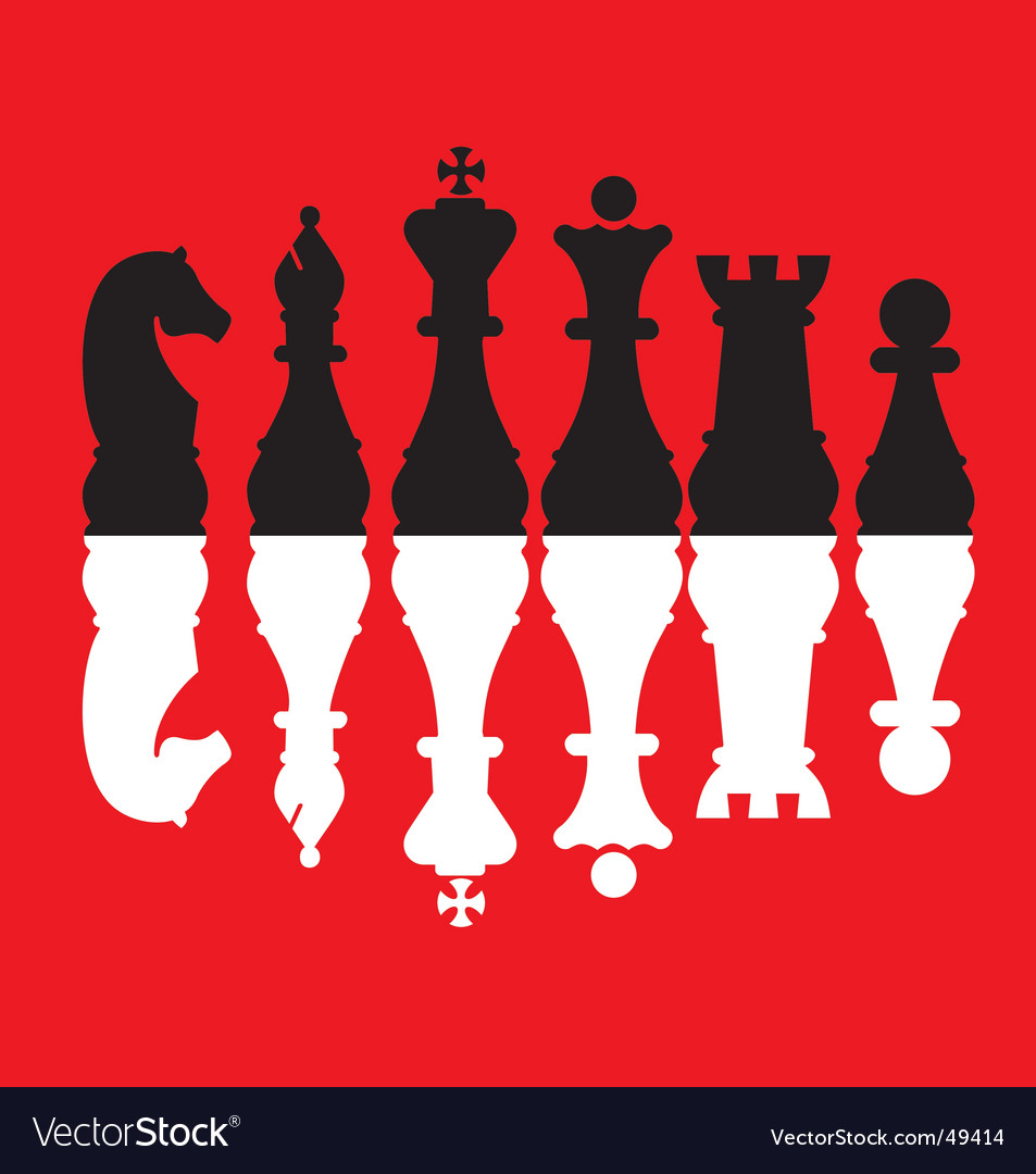 Chess pieces set vector | Price: 1 Credit (USD $1)