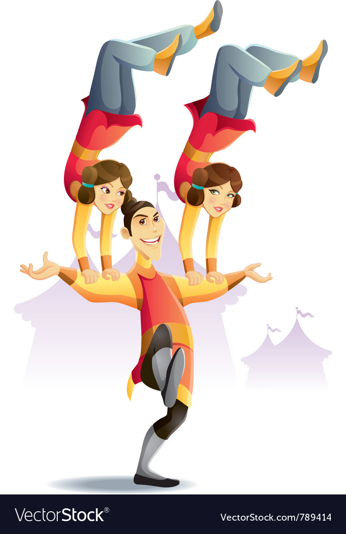 Circus acrobatic vector | Price: 3 Credit (USD $3)