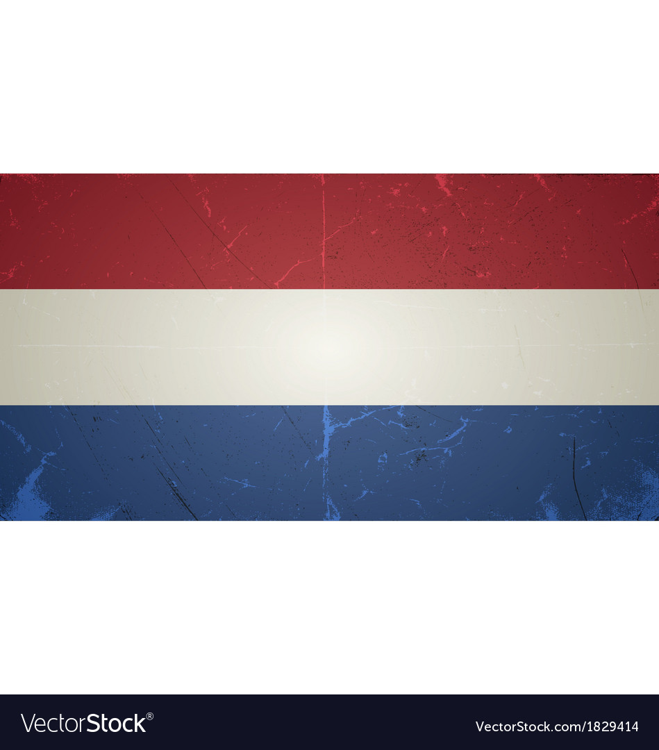Grunge flags - netherlands vector | Price: 1 Credit (USD $1)