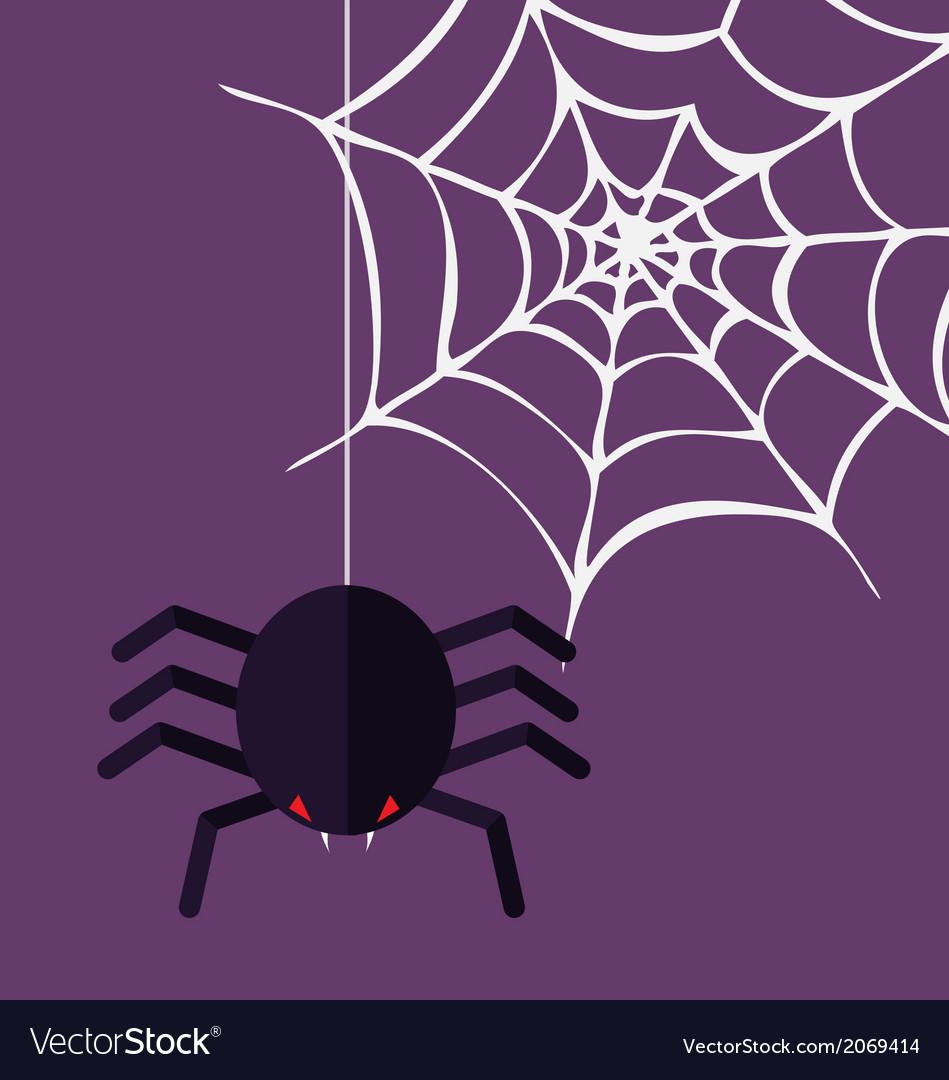 Halloween decoration spider and cobweb vector | Price: 1 Credit (USD $1)