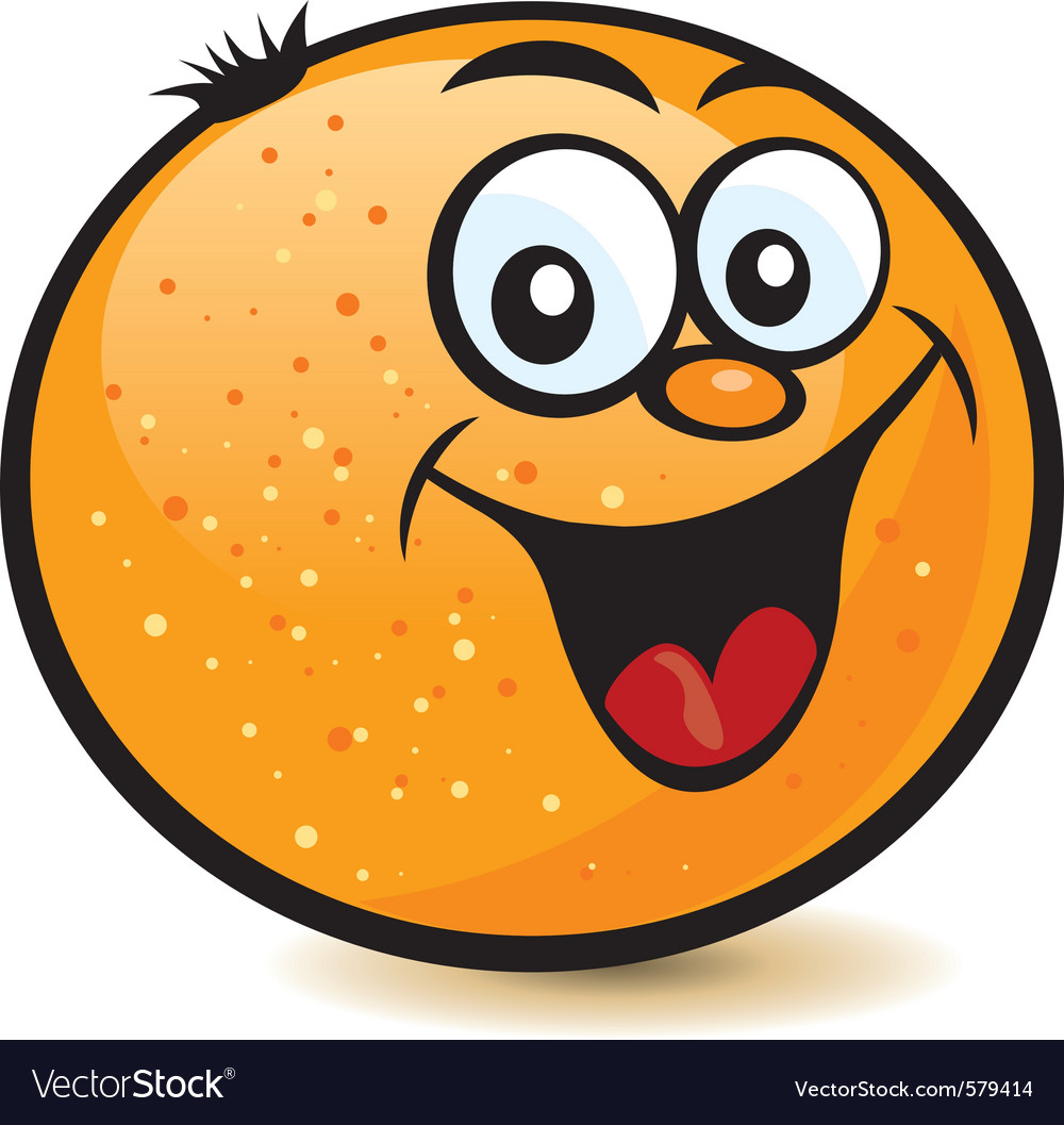 Happy orange character vector | Price: 1 Credit (USD $1)