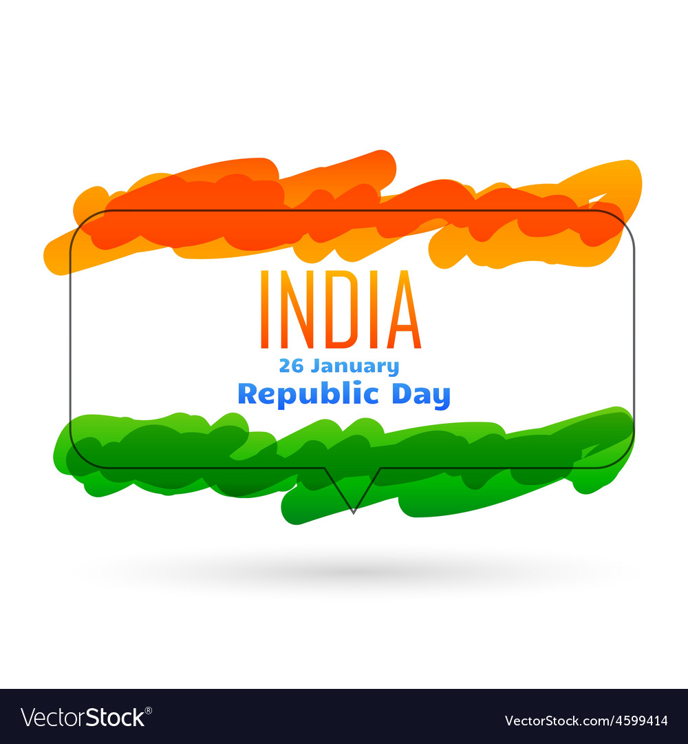 Indian 26th january republic day design vector | Price: 1 Credit (USD $1)