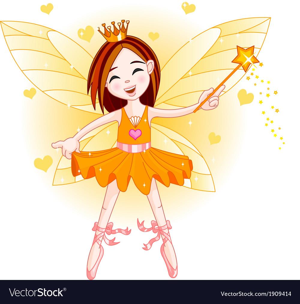 Little orange fairy vector | Price: 1 Credit (USD $1)