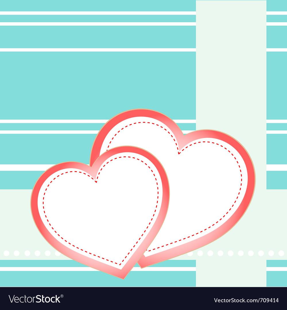 Postcard hearts vector   Price: 1 Credit (USD $1)