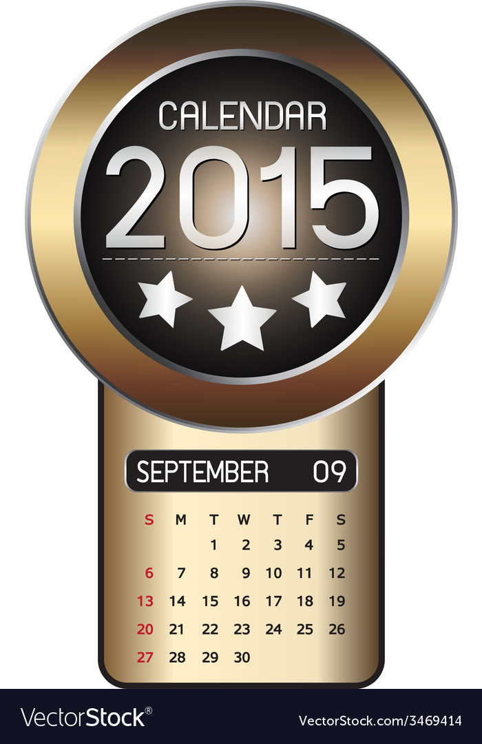 September calendar 2015 fiber background vector | Price: 1 Credit (USD $1)