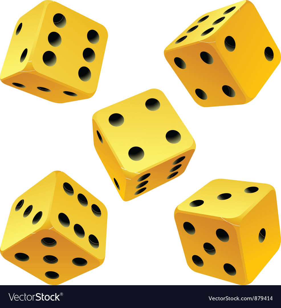 Yellow dice set vector | Price: 1 Credit (USD $1)
