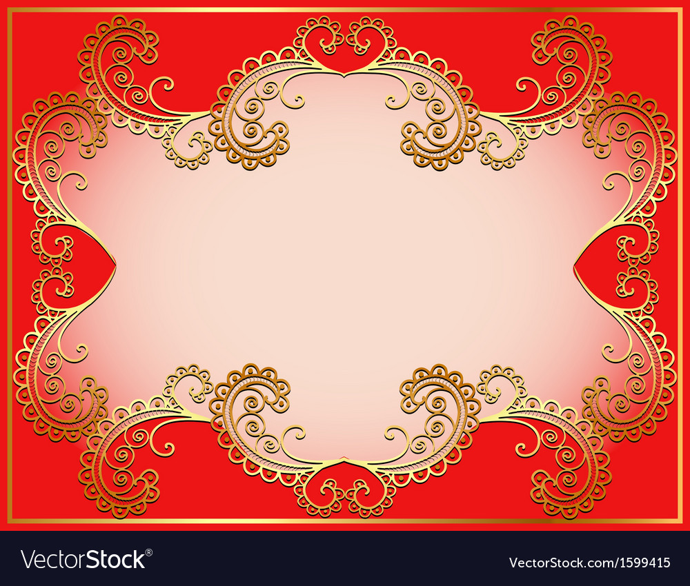 Ancient background framed gold vector | Price: 1 Credit (USD $1)