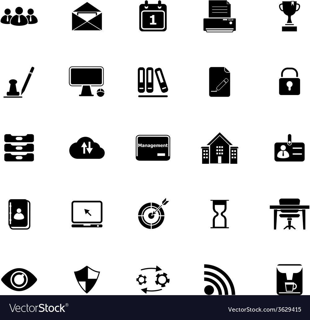Business management icons on white background vector | Price: 1 Credit (USD $1)