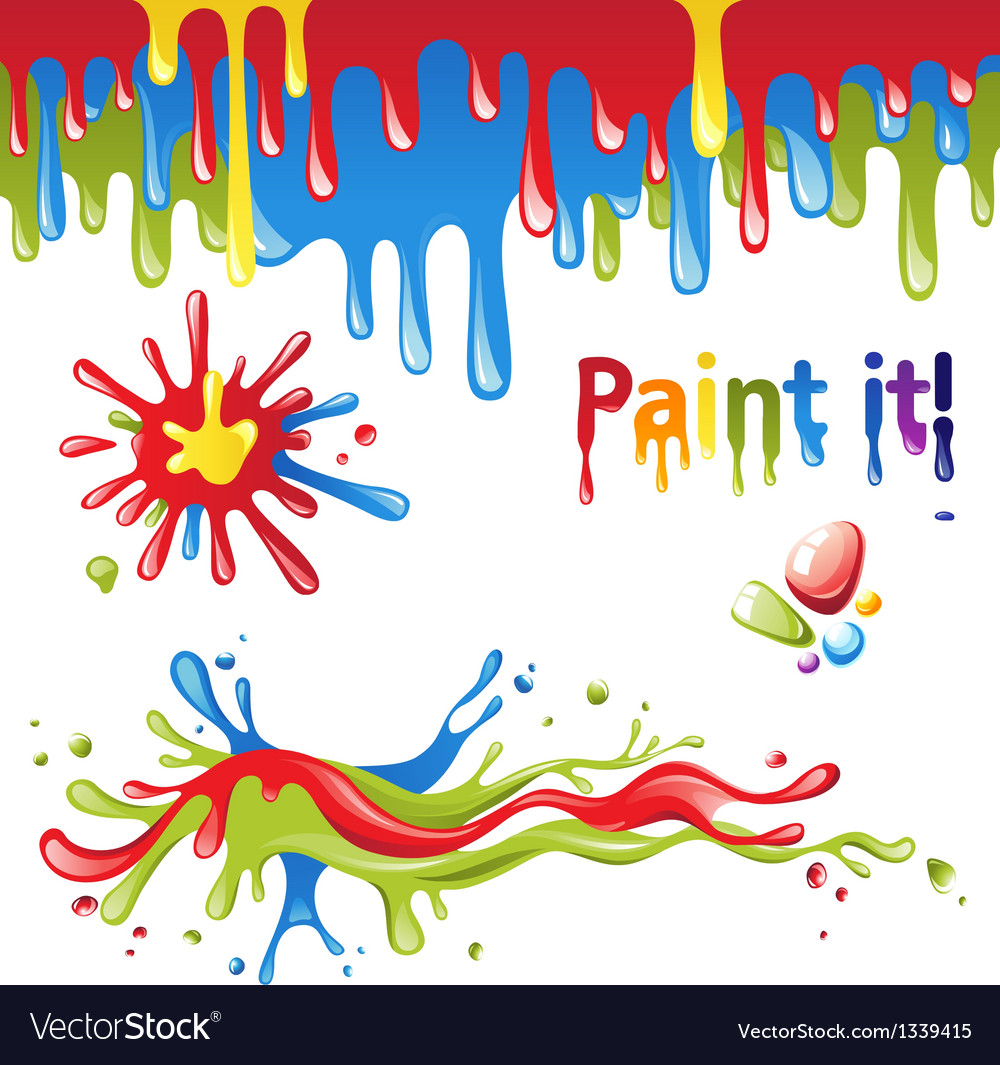 Colorful paint splashes vector | Price: 1 Credit (USD $1)