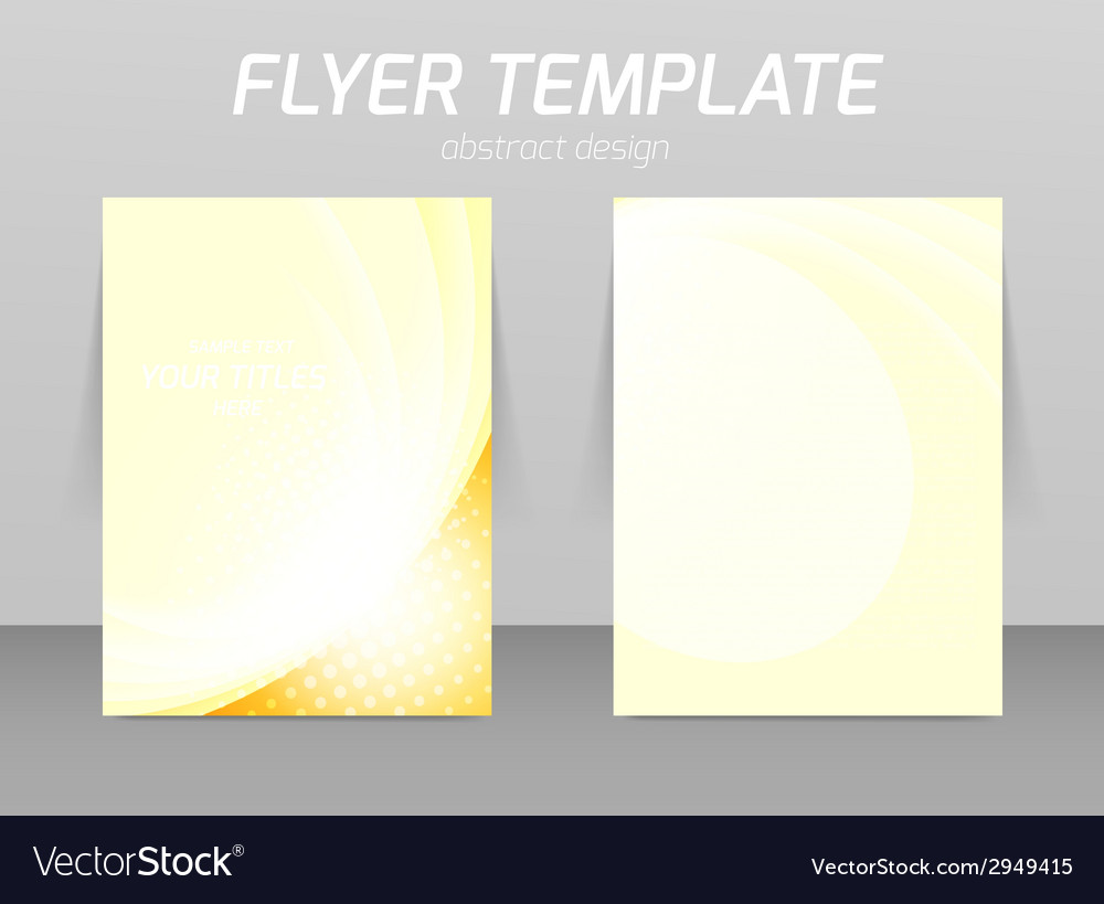 Flyer back and front design template vector | Price: 1 Credit (USD $1)