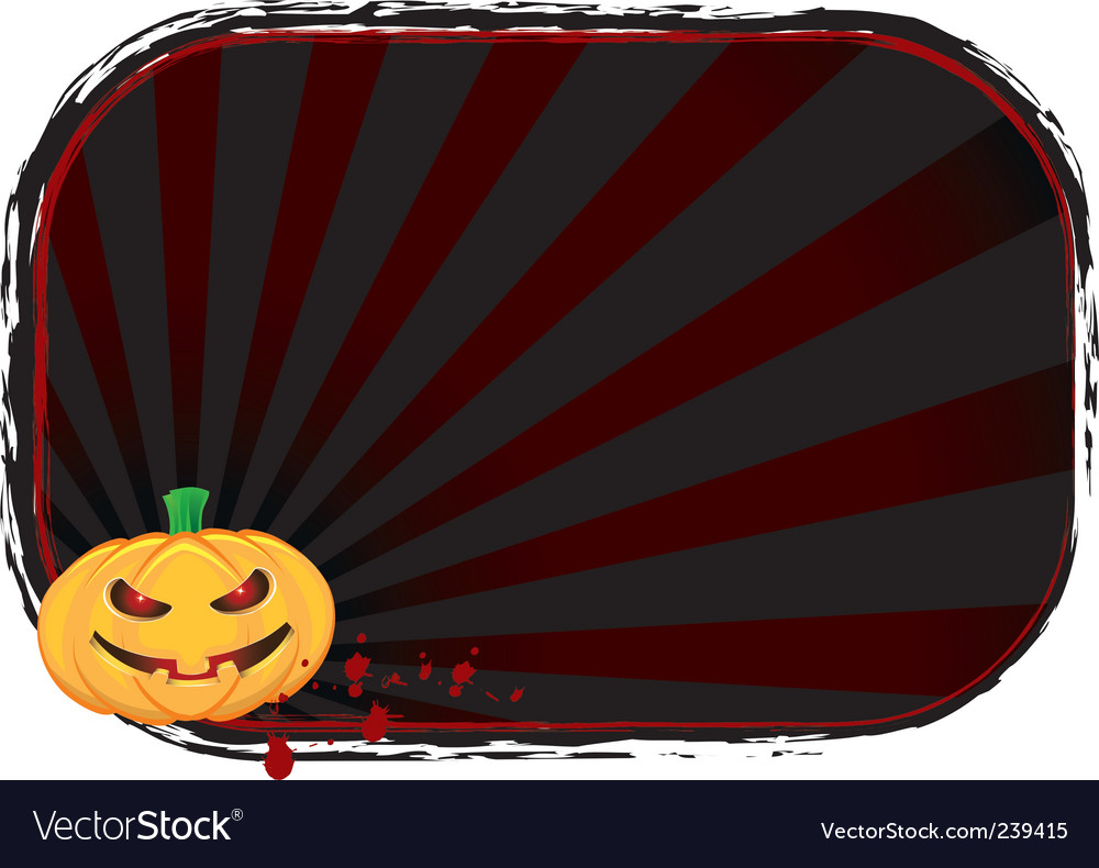 Halloween pumpkin banner vector | Price: 1 Credit (USD $1)