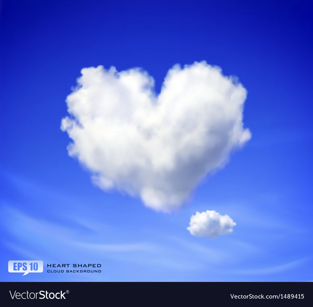 Heart shaped cloud vector | Price: 1 Credit (USD $1)