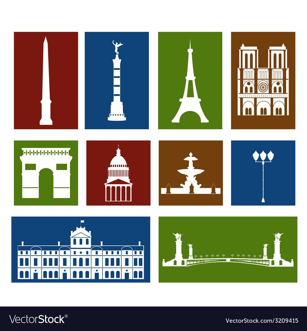 Landmarks of paris vector | Price: 1 Credit (USD $1)