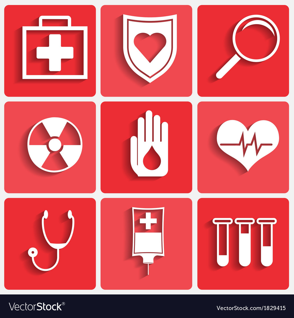 Medical theme icons set vector | Price: 1 Credit (USD $1)