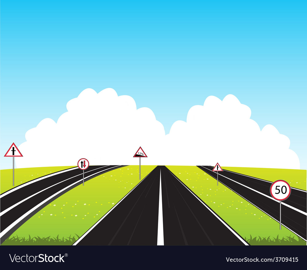 Much roads in field vector | Price: 1 Credit (USD $1)