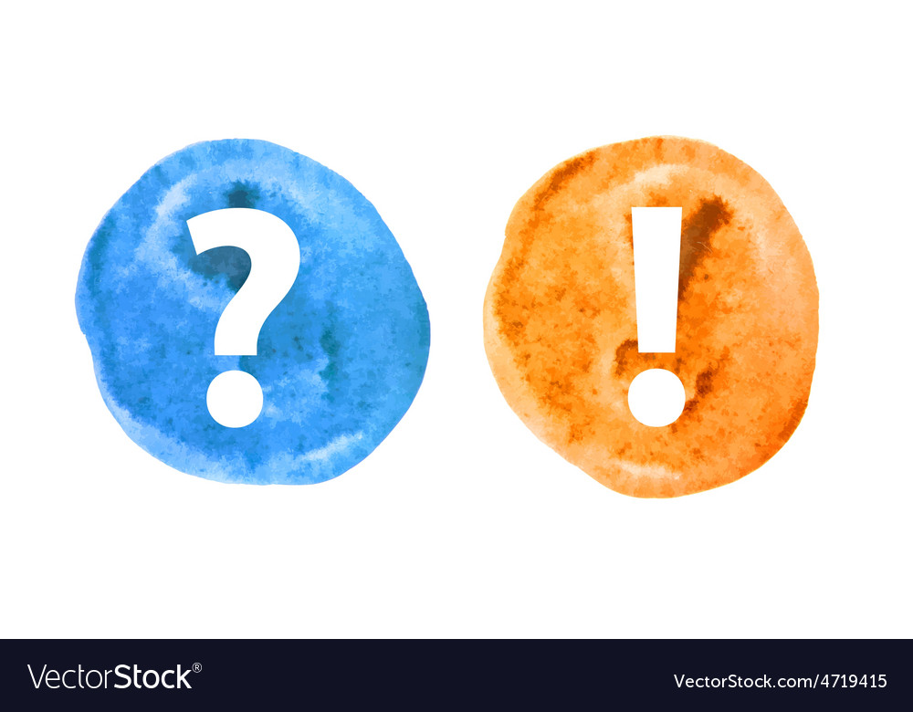 Question and exclamation mark set vector | Price: 1 Credit (USD $1)