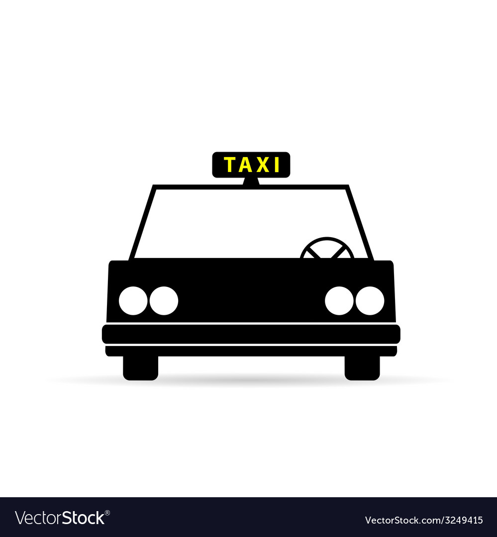 Taxi vehicle icon vector | Price: 1 Credit (USD $1)
