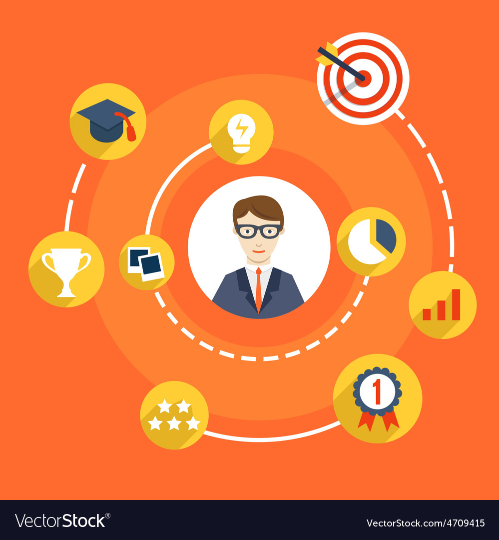 Usability skills of businessman vector | Price: 1 Credit (USD $1)