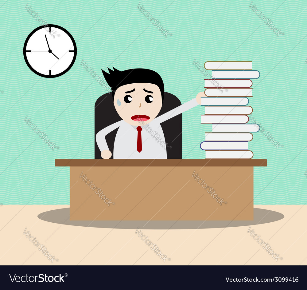 Businessman working in office vector | Price: 1 Credit (USD $1)