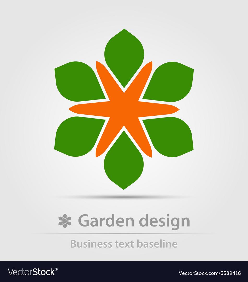 Garden design business icon vector   Price: 1 Credit (USD $1)