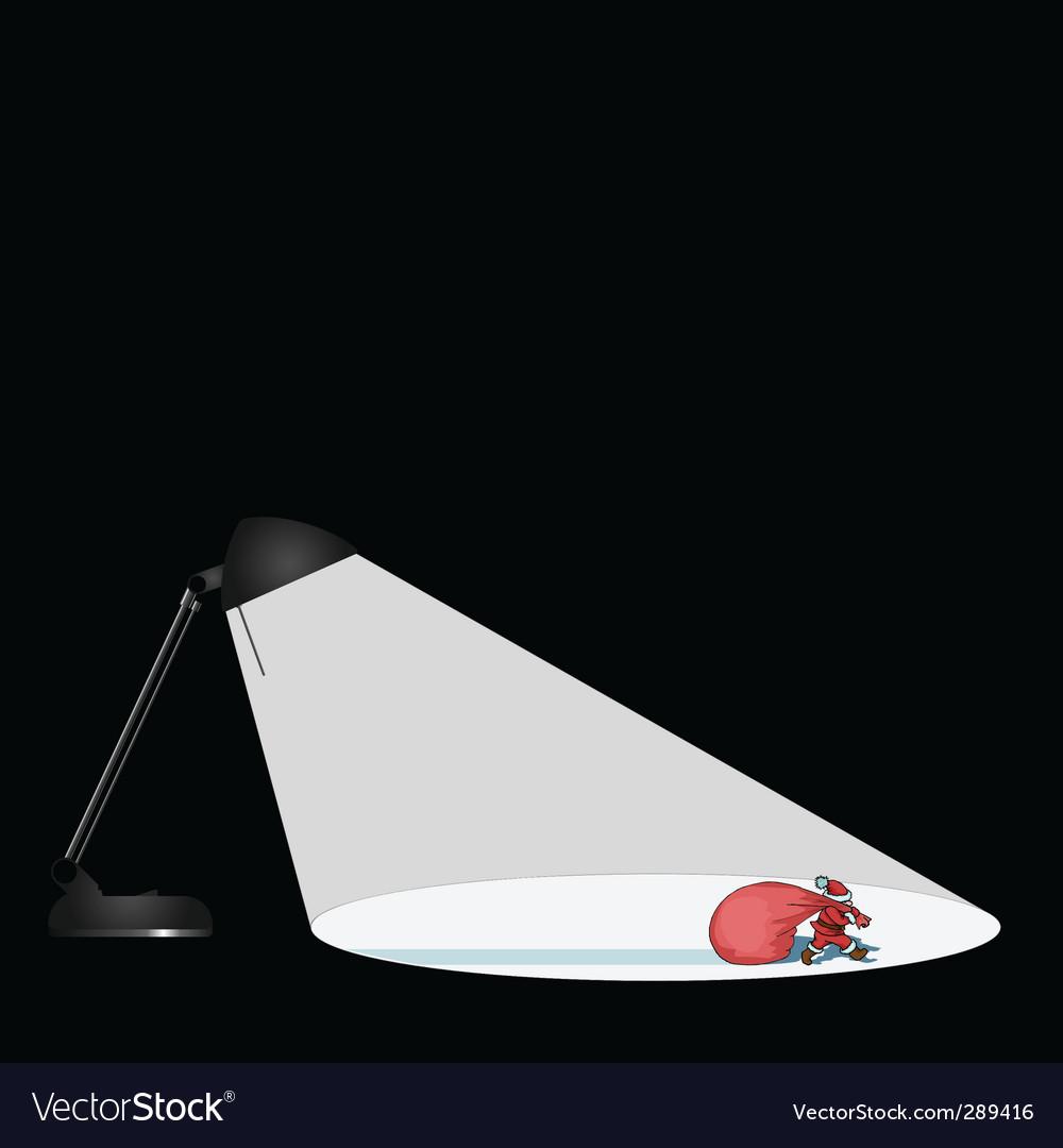 Lamp santa vector   Price: 1 Credit (USD $1)
