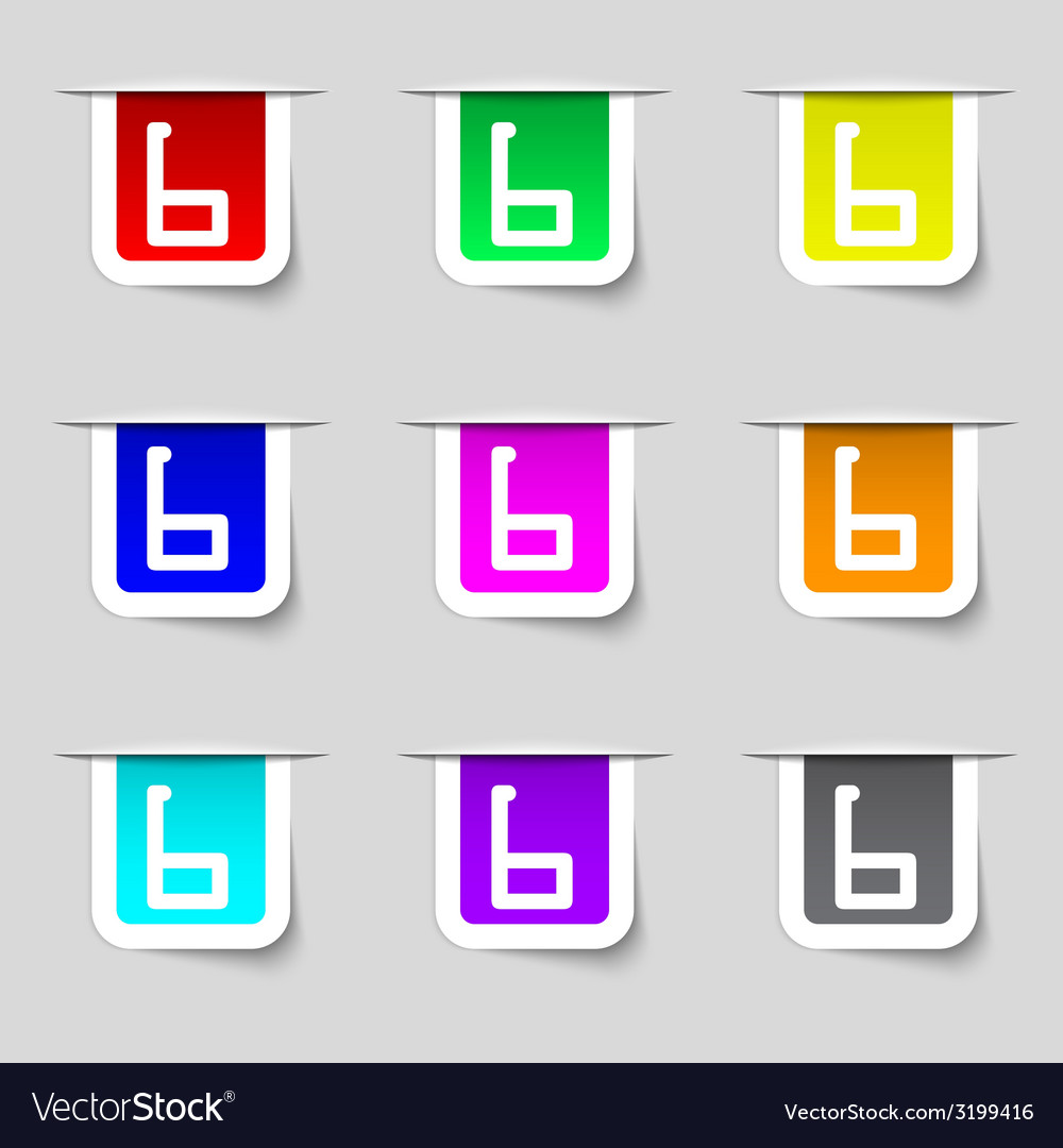Number six icon sign set of coloured buttons vector   Price: 1 Credit (USD $1)